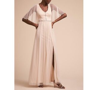 Anthropologie BHLDN lace mesh elegance long dress